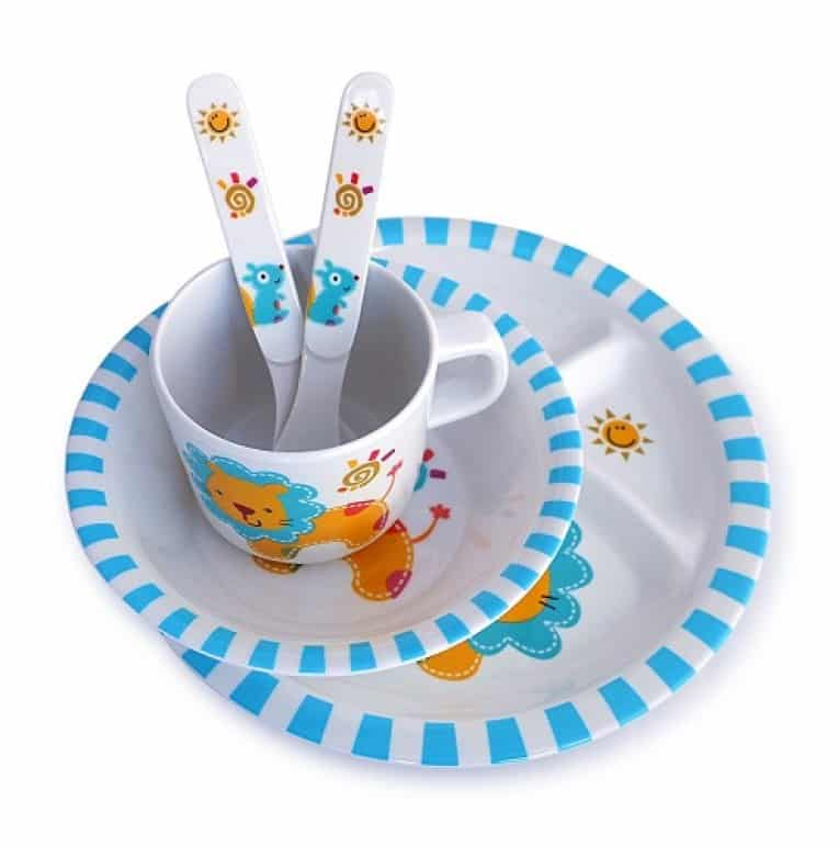 Culina Kids plate and Bowl Melamine Baby Dinner Set Review 2