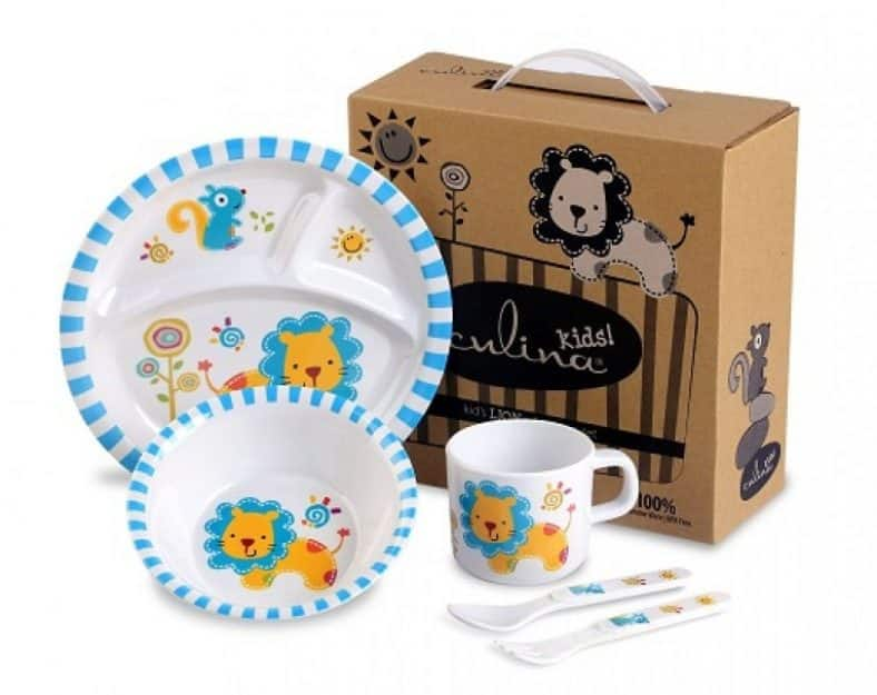 Culina Kids plate and Bowl Melamine Baby Dinner Set Review 8