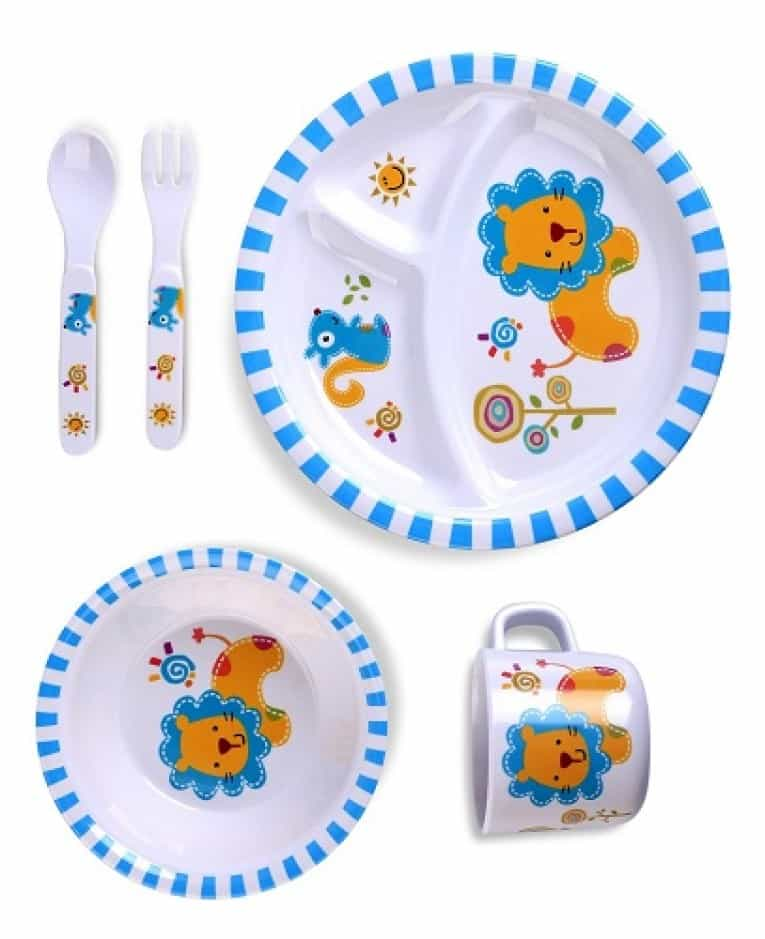 Culina Kids plate and Bowl Melamine Baby Dinner Set Review 9