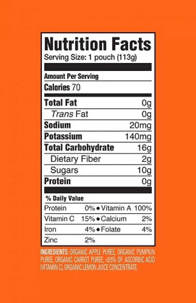 Happy Baby Clearly Crafted, Organic Baby Food, Stage 2, Apples, Pumpkin & Carrots, 4.0oz Clear Pouch (16 Count) 6