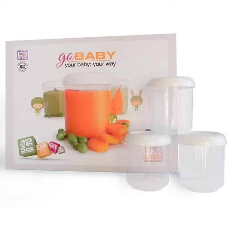 Littleware Baby Food Storage Containers 12 Piece Set Fits Great in Bottle Warmer 5