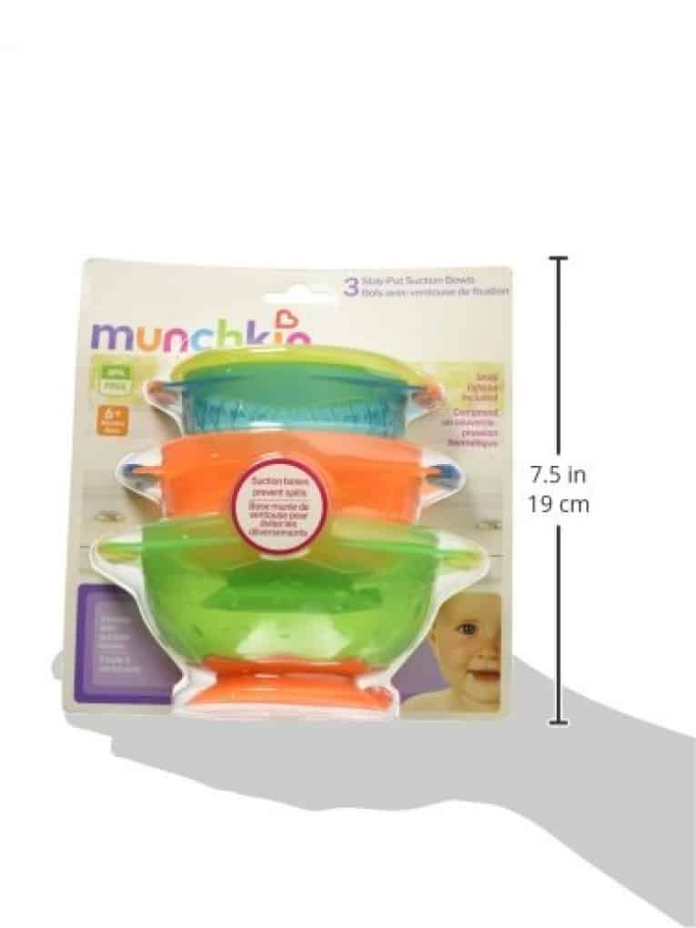 Munchkin Stay Put Suction Bowl, 3 Count Review 8