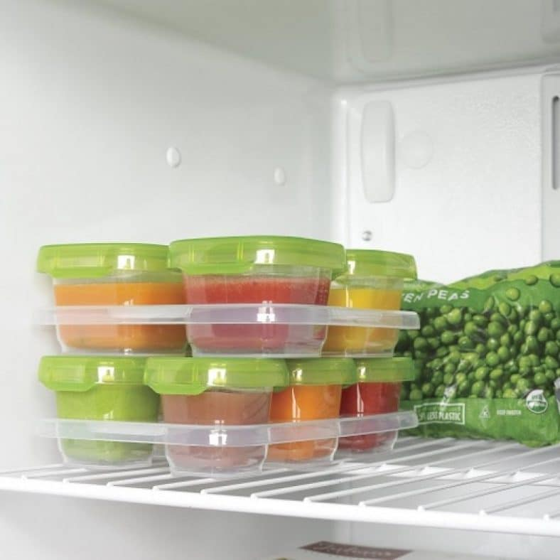 OXO Tot Baby Blocks Freezer Storage Containers - Green 4
