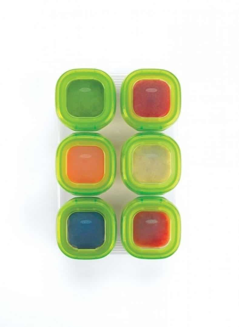 OXO Tot Baby Blocks Freezer Storage Containers - Green 6