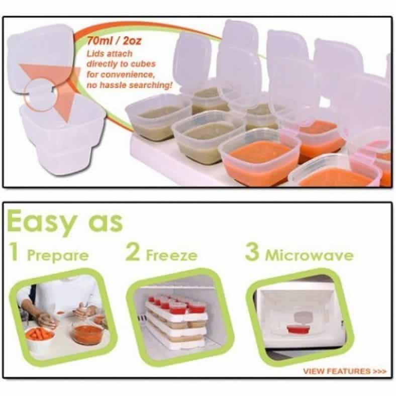 XHTECH Superior 8 Piece Baby Food Containers Review 2